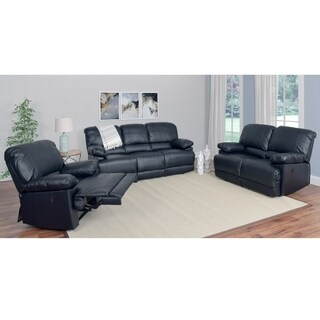 CorLiving Lea Bonded Leather Power Recliner 3pc Sofa and Chair Set