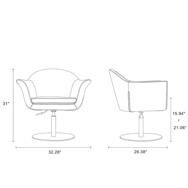 Voyager Swivel Adjustable Accent Chair