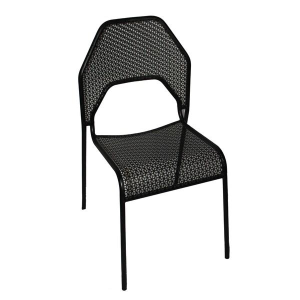 Meshi Black Metal Chair (Set of 2)