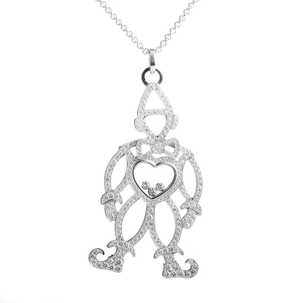 Shop chopard happy diamonds white gold full diamond clown pendant chopard happy diamonds white gold full diamond clown pendant necklace aloadofball Gallery