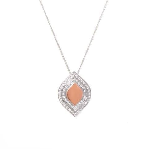 Salvini White & Rose Gold Diamond Pendant Necklace