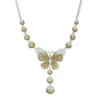 White Gold Diamond & Multi Sapphire Monarch Necklace