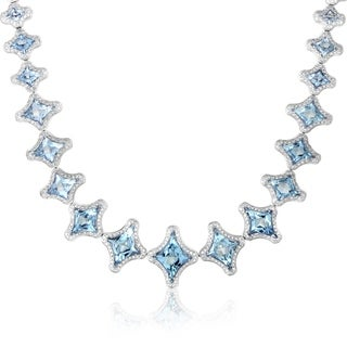 Marilyn Women's White Gold Aquamarine & Diamond Necklace
