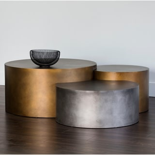 Ikon Neo Brass Round Coffee Tables (Set of 3)