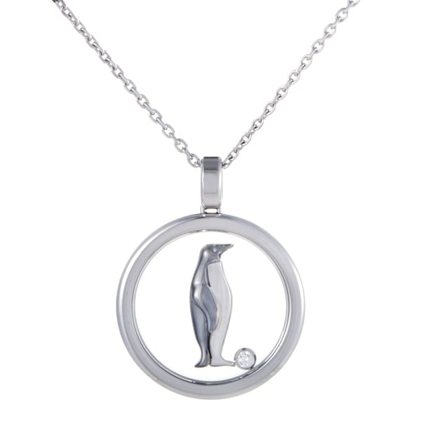 Shop chopard animal world round white gold diamond penguin pendant chopard animal world round white gold diamond penguin pendant necklace aloadofball Choice Image