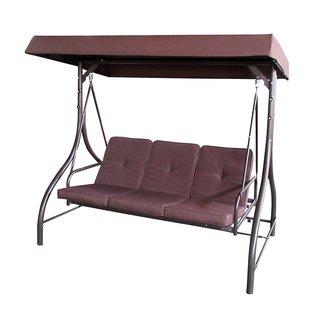 ALEKO Outdoor Garden Porch and Patio Brown Swing Chair