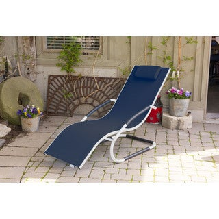 Vivere Home Outdoor Aluminum Wave Lounger