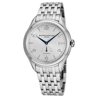 Baume Mercier Men's MOA10099 'Clifton' Silver Dial Stainless Steel Swiss Automatic Watch