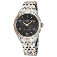 Baume Mercier Men's MO 'Clifton' Grey Dial Stainless Steel/Rose Gold Swiss Automatic Watch