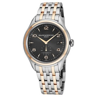Baume Mercier Men's MOA10210 'Clifton' Grey Dial Stainless Steel/Rose Gold Swiss Automatic Watch