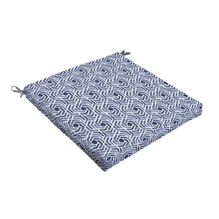 Humble + Haute Navy and White Geometric Bristol Indoor/ Outdoor Cushion