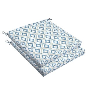 Humble + Haute Blue Diamond Tile Bristol Indoor/ Outdoor Cushion, Set of 2
