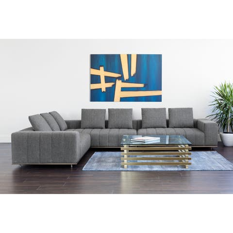 Club Flora Milestone Charcoal Fabric Sectional