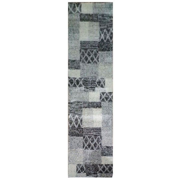 Shop Indoor Polypropylene Runner Long Rug In Grey Silver Tan 2 8