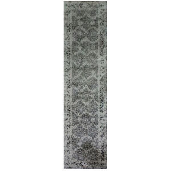 Indoor Polypropylene Runner Long Rug In Grey, Beige, Tan