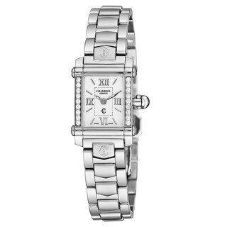Charriol Women's CCSTRDD910820 'Columbus' White Dial Stainless Steel Diamond Swiss Quartz Watch