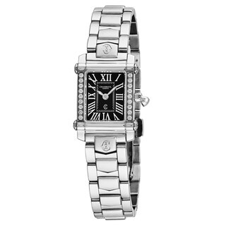 Charriol Women's CCSTRDD9102108 'Columbus' Black Dial Stainless Steel Diamond Swiss Quartz Watch