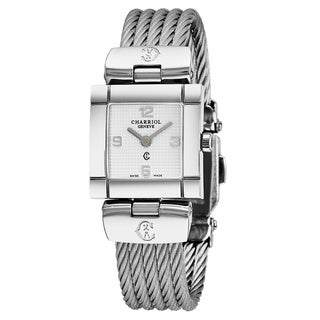 Charriol Women's CELS71171 'Celtic' Silver Dial Stainless Steel Swiss Quartz Watch