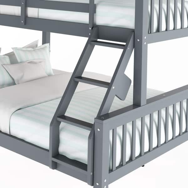 Shop Taylor Olive Christian Twin Single Over Full Double Bunk Bed Overstock 19876150