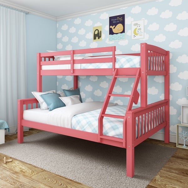 Shop Corliving Dakota Twin Single Over Full Double Bunk Bed Ships