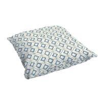 Humble + Haute Blue Diamond Tile Corded Indoor/ Outdoor Floor Pillow