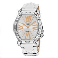 Fendi Women's F84336H.PS18R04 'Selleria' Silver Dial White Leather Strap Swiss Quartz Watch