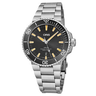 Oris Men's 01 733 7730 4159-07 8 24 05PEB 'Aquis Date' Black Dial Stainless Steel Swiss Automatic Watch
