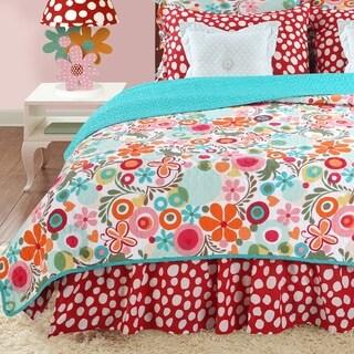 Cotton Tale Lizzie Floral Reversible Twin Quilt