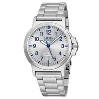 Oris Men's 01 735 7641 4161-07 8 22 03 'BC3 Advanced' Silver Dial Stainless Steel Day Date Swiss Automatic Watch