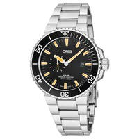Oris Men's  01 743 7733 4159-07 8 24 05PEB 'Aquis' Black Dial Stainless Steel Small Seconds Swiss Automatic Watch