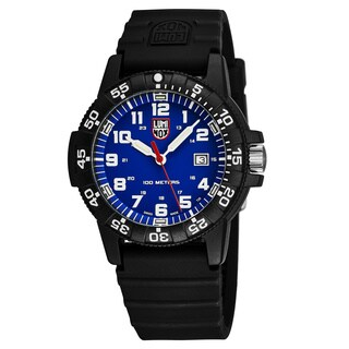Luminox Men's XS.0323 'Sea Turtle' Blue Dial Black Rubber Strap Time Date Swiss Quartz Watch