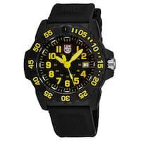 Luminox Men's XS.3505 Navy Seal 3505' Black Dial Black Rubber Strap Time Date Swiss Quartz Watch