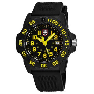 Luminox Men's XS.3505 Navy Seal 3505' Black Dial Black Rubber Strap Time Date Swiss Quartz Watch
