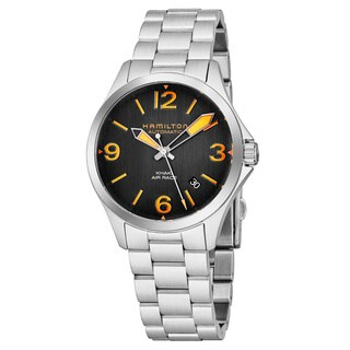 Hamilton Men's H76535131 'Khaki Aviation' Charcoal Dial Stainless Steel Air Race Swiss Automatic Watch