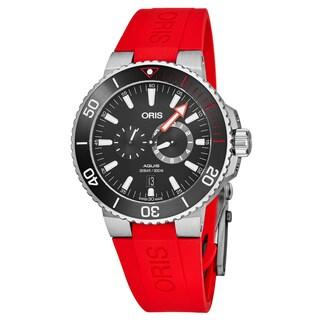 Oris Men's 01 749 7734 7154-Set 'Der Meistertaucher' Black Dial Red Rubber Strap/Titanium Bracelet Swiss Automatic Watch