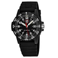 Luminox Men's  'Sea Turtle' Black Dial Black Rubber Strap Time Date Swiss Quartz Watch
