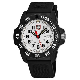 Luminox Men's XS.3507 'Navy Seal 3503' White Dial Black Rubber Strap Time Date Swiss Quartz Watch