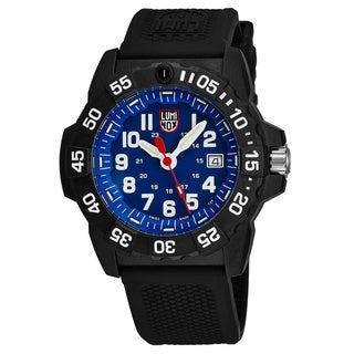 Luminox Men's XS.3503 'Navy Seal 3500' Blue Dial Black Rubber Strap Time Date Swiss Quartz Watch