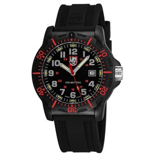 Luminox Men's XL.8895 'Black OPS 8880' Black Dial Black Rubber Strap TimeDate Swiss Quartz Watch