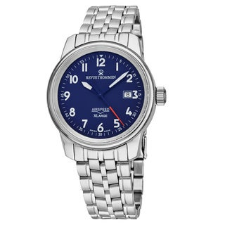 Revue Thommen Men's 'Air Speed' Blue Dial Stainless Steel Swiss Automatic Watch