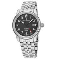 Revue Thommen Men's  'Air Speed' Black Stainless Steel Swiss Automatic Watch