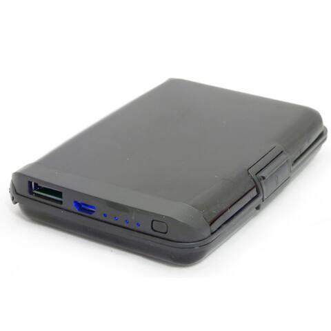 Aluminum RFID Blocking Portable Wallet Charging Power Bank