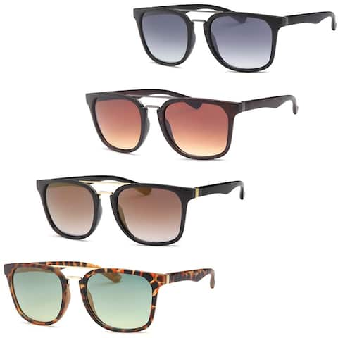 AFONiE Square Frame Unisex Sunglasses - Pack of 4 - Multi - Medium