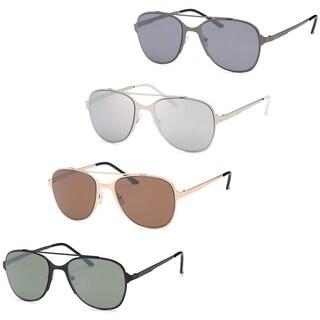 AFONiE Modern large Metal Style Frame Unisex Glasses - Pack of 4 - Multi - Medium