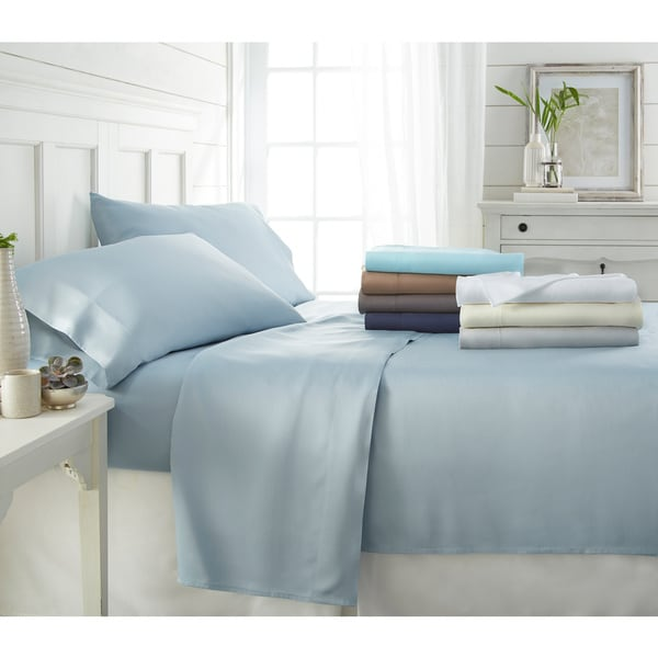 Becky Cameron Premium Rayon From Bamboo 4 Piece Luxury Bed Sheet Set