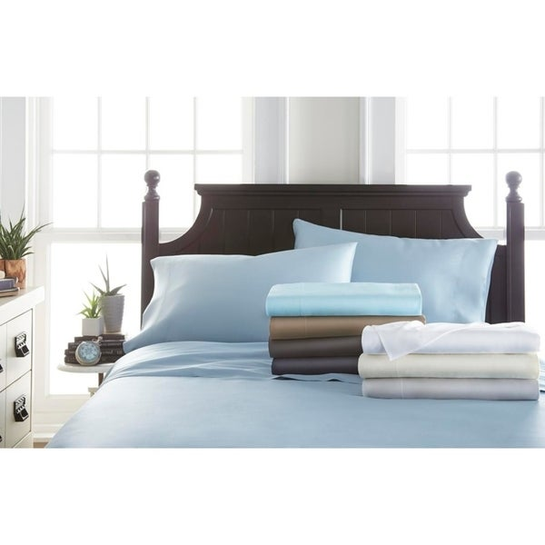 b95231bdad5 Becky Cameron Premium Rayon from Bamboo 4 Piece Luxury Bed Sheet Set
