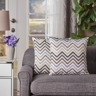 Callon Zig Zag Square Pillow (Set of 2) by Christopher Knight Home