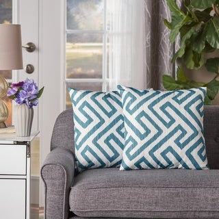 Clemensia Square Pillow (Set of 2) by Christopher Knight Home