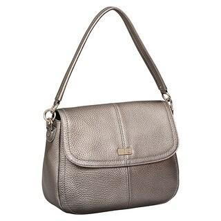 Cole Haan Jenna Silver Leather Shoulder Bag