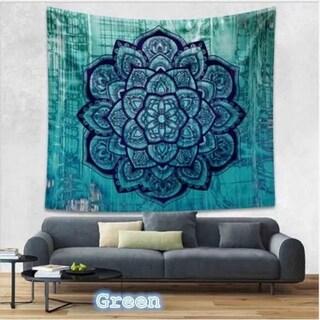 Boho Style Handmade Tapestry Wall Hanging Blanket Art Wall Decor for Living Room/Bedroom 130 X150cm (Option: Green)